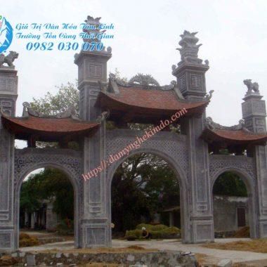 Mẫu cổng tam quan đá đẹp, thiết kế lắp đặt Cổng tam quan đá, cổng làng bằng đá
