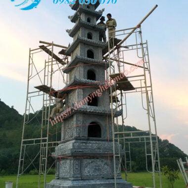 Mộ Tháp đá, Bảo tháp đá, tháp thất phẩm