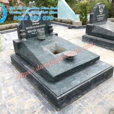 mộ đá hiện đại đơn giản, mộ đá xanh rêu