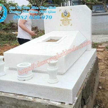 mộ đá đơn giản, mộ hiện đại đá trắng