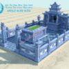 Bản vẽ Thiết kế Khu lăng mộ đá đẹp với diện tích 25m2,Khu lăng mộ đá nhỏ, thiết kế 3D khu lăng mộ gia đình
