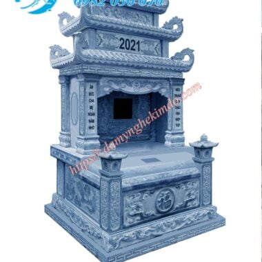 Mẫu mộ đá ba đao lá đẹp. Mộ đá đài loan, mộ đá đẹp nhất, mộ đá ba mái, mộ đài loan