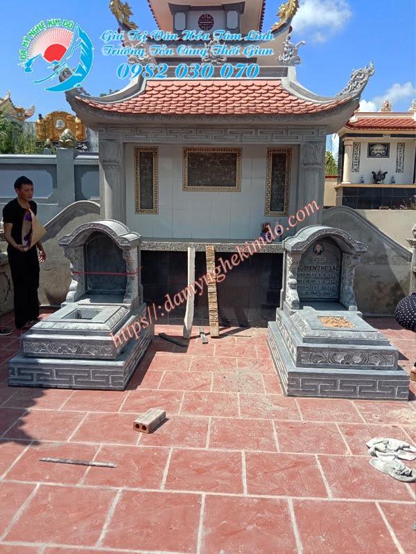 Lắp mộ đá tam cấp mái vòm tại Quảng Ninh, Mộ mái vòm